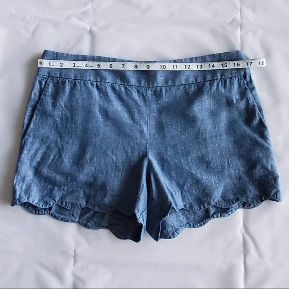 LOFT Pants - Ann Taylor Loft Riviera Chambray Short | Size 6